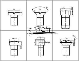 طراحی پیچ و مهره استاندارد 2